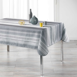 Nappe rectangle 150 x 240 cm polyester imprime chacana Gris