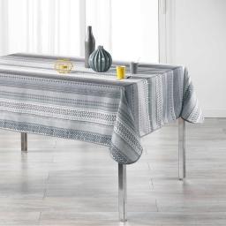 Nappe rectangle 150 x 240 cm polyester imprime chacana Gris