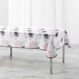 Nappe rectangle 150 x 240 cm polyester imprime coquetterie Rose