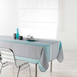 Nappe rectangle 150 x 240 cm polyester imprime damara Ciel
