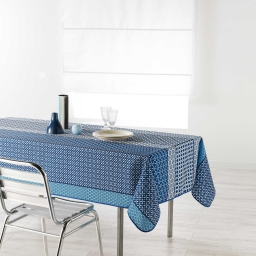 Nappe rectangle 150 x 240 cm polyester imprime damara Indigo