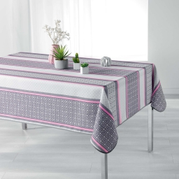 Nappe rectangle 150 x 240 cm polyester imprime feliz Rose