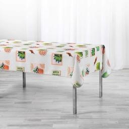 Nappe rectangle 150 x 240 cm polyester imprimé Green garden