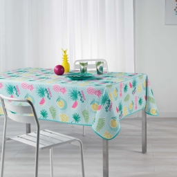 nappe rectangle 150 x 240 cm polyester imprime happy summer