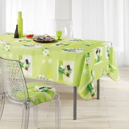 Nappe rectangle 150 x 240 cm polyester imprime isadora Anis