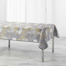 Nappe rectangle 150 x 240 cm polyester imprime joline Jaune