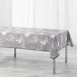 Nappe rectangle 150 x 240 cm polyester imprime joline Rose
