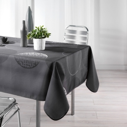 Nappe rectangle 150 x 240 cm polyester imprime kosmo Anthracite