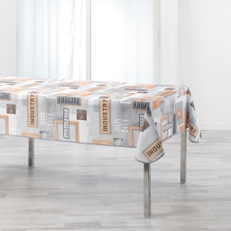 nappe rectangle 150 x 240 cm polyester imprime loft urbain