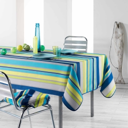 Nappe rectangle 150 x 240 cm polyester imprime marina Bleu