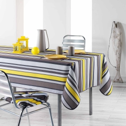 Nappe rectangle 150 x 240 cm polyester imprime marina Jaune
