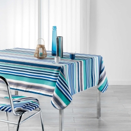 Nappe rectangle 150 x 240 cm polyester imprime matelot Bleu