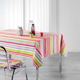 Nappe rectangle 150 x 240 cm polyester imprime matelot Rose