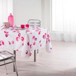 Nappe rectangle 150 x 240 cm polyester imprime mixi Rose