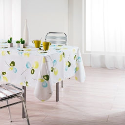 Nappe rectangle 150 x 240 cm polyester imprime mixi Vert