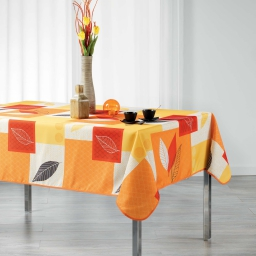 Nappe rectangle 150 x 240 cm polyester imprime soria Orange