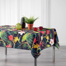 Nappe rectangle 150 x 240 cm polyester imprime tropicoco Prune