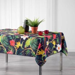 Nappe rectangle 150 x 240 cm polyester imprime tropicoco Prune