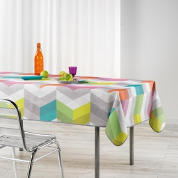 Nappe rectangle 150 x 240 cm polyester imprime ultragraphic Pastel