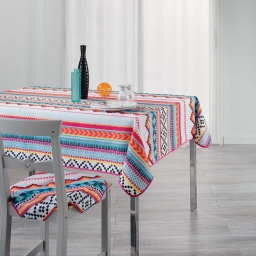 nappe rectangle 150 x 240 cm polyester imprime waxy