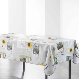 nappe rectangle 150 x 240 cm polyester photoprint petit potager