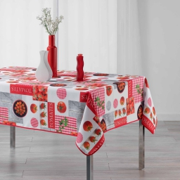 nappe rectangle 150 x 240 cm polyester photoprint tomato party