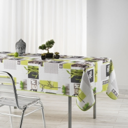 Nappe rectangle 150 x 240 cm polyester photoprint zanis Blanc