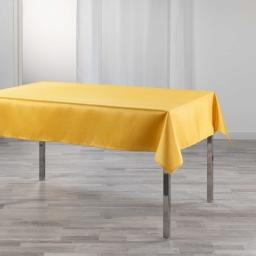Nappe rectangle 150 x 240 cm shantung uni shana Moutarde
