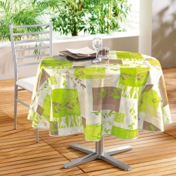 nappe ronde (0) 160 cm pvc imprime herbal
