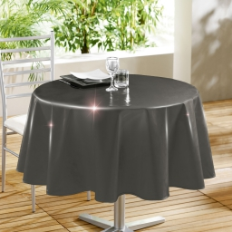 Nappe ronde (0) 160 cm pvc uni laque glossy Anthracite