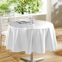 Nappe ronde (0) 160 cm pvc uni laque glossy Blanc