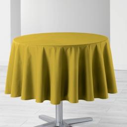 Nappe ronde (0) 170 cm coton uni ideale Miel
