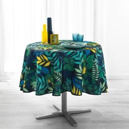 Nappe ronde (0) 180 cm anti tache imprime palma Marine
