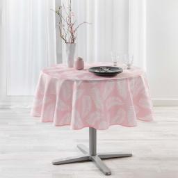 Nappe ronde (0) 180 cm antitache imprime lifette Rose