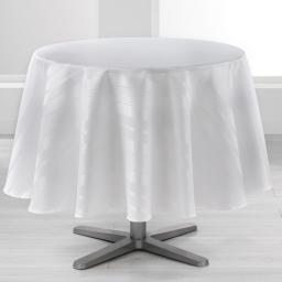 Nappe ronde (0) 180 cm jacquard damasse smart Blanc