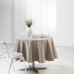 Nappe ronde (0) 180 cm jacquard enduit liany Gris