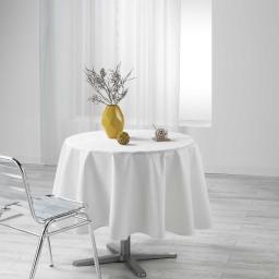 Nappe ronde (0) 180 cm jacquard enduit liany Naturel