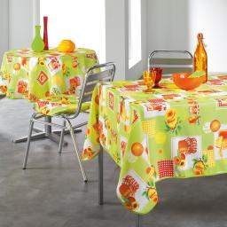 nappe ronde (0) 180 cm polyester imprime abricots