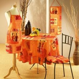 Nappe ronde (0) 180 cm polyester imprime afrika Epices
