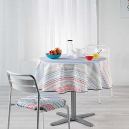 Nappe ronde (0) 180 cm polyester imprime analea Multico