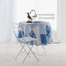 nappe ronde (0) 180 cm polyester imprime azuli