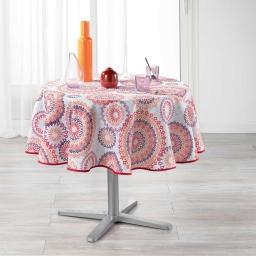 nappe ronde (0) 180 cm polyester imprime cadix