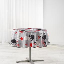 nappe ronde (0) 180 cm polyester imprime epicurien