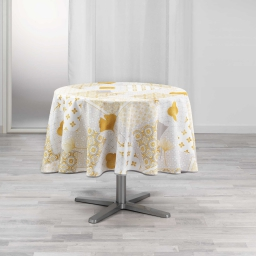 nappe ronde (0) 180 cm polyester imprime festine