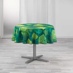 nappe ronde (0) 180 cm polyester imprime flore