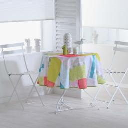 nappe ronde (0) 180 cm polyester imprime florida
