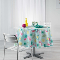 nappe ronde (0) 180 cm polyester imprime happy summer