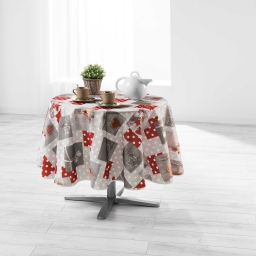 nappe ronde (0) 180 cm polyester imprime hiverna