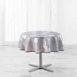 Nappe ronde (0) 180 cm polyester imprime joline Rose