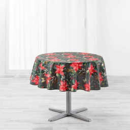 Nappe ronde (0) 180 cm polyester imprime la rosiere Gris